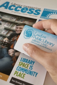 Picking up my London Public Library card.