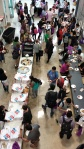 Free pizzas at the grad student orientation at UWO.