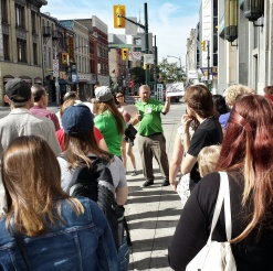 Walking tour on Dundas with the Architectural Conservancy of Ontario Downtown.